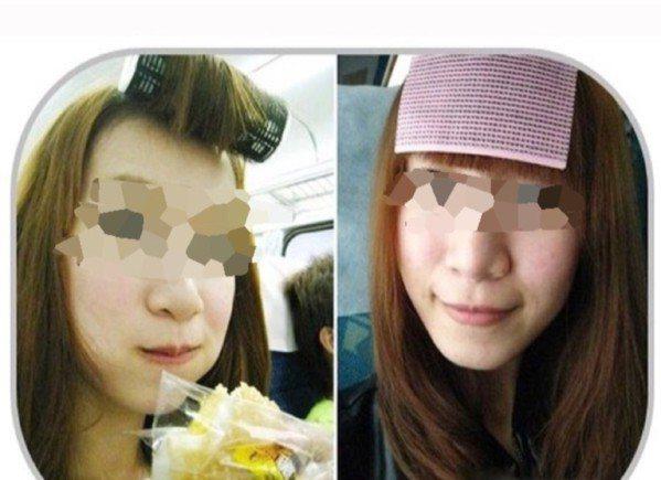 早期流行的頭髮貼片跟最近流行的髮捲 圖片來源/搜狐