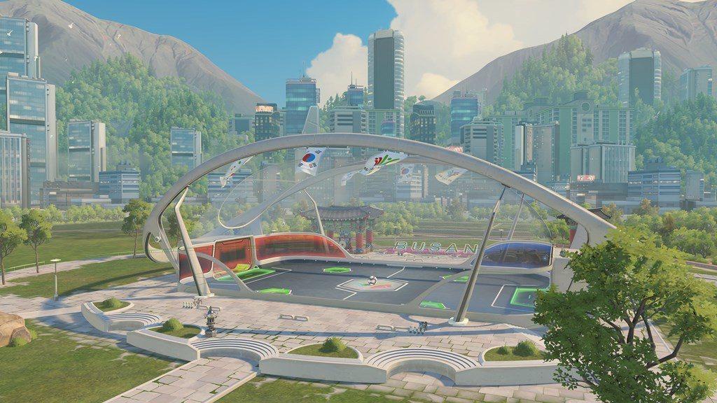 全新的「路西歐競球」地圖 ─ 釜山運動場
