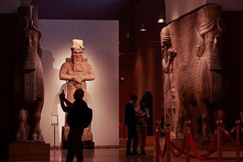 伊拉克在長年戰火中,大量文物被掠奪,近年來積極尋求「寶物收還」。圖為伊拉克國家博...