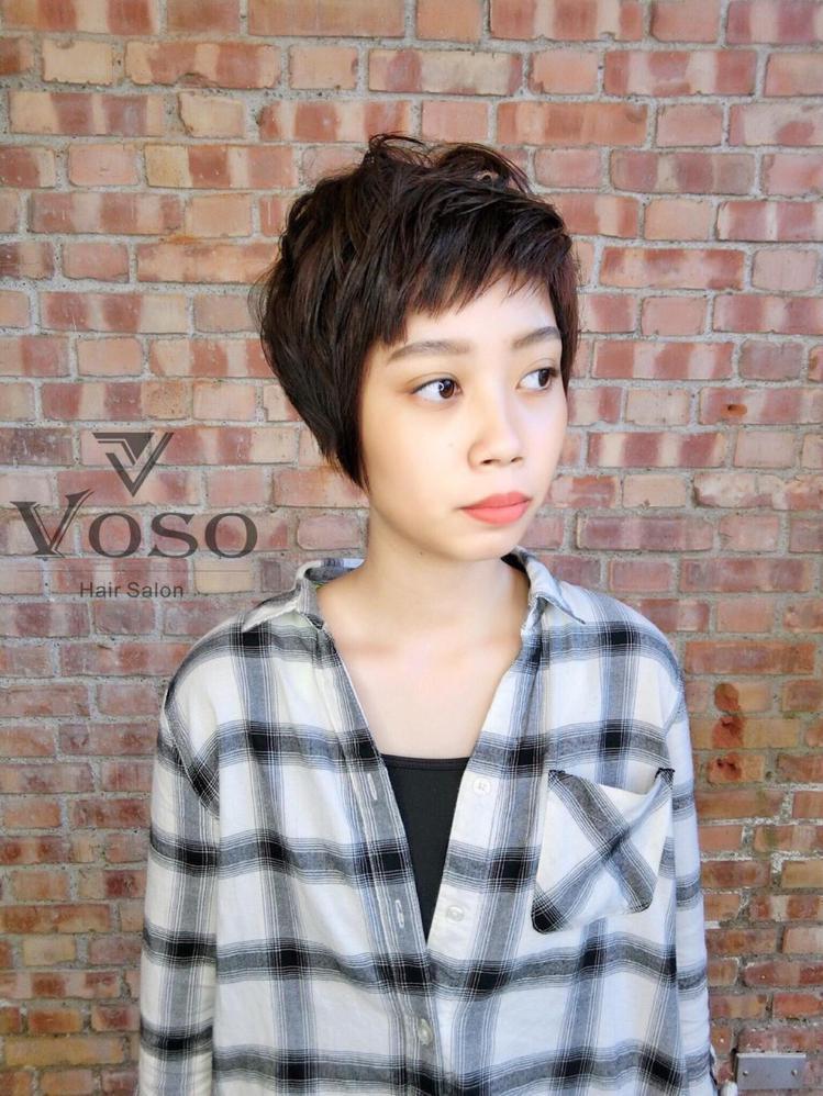 髮型創作/Voso UNA。圖/HairMap美髮地圖提供