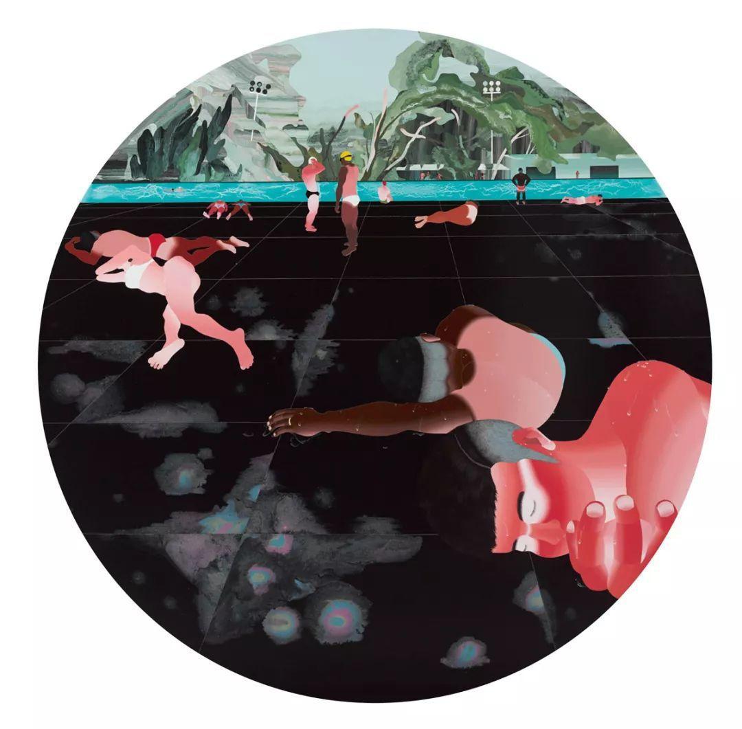 范揚宗 大暑 壓克力、畫布 200 x 200 cm 2018
