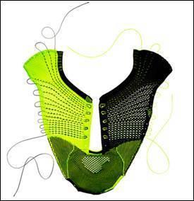 圖1 Nike Flyknit技術 (圖片來源: PACER)