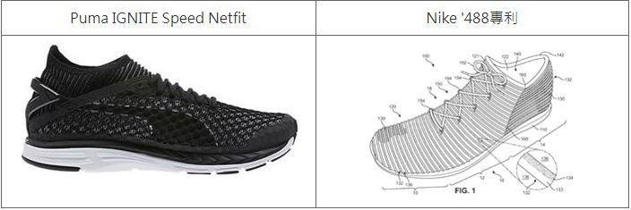 圖2. Puma被控侵權物與Nike '488專利比對 (圖片來源: PACER...