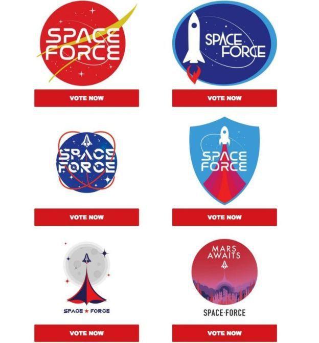 美國總統川普爭取連任的競選團隊要求支持者票選太空部隊識別標誌,要拿來當募集競選經...
