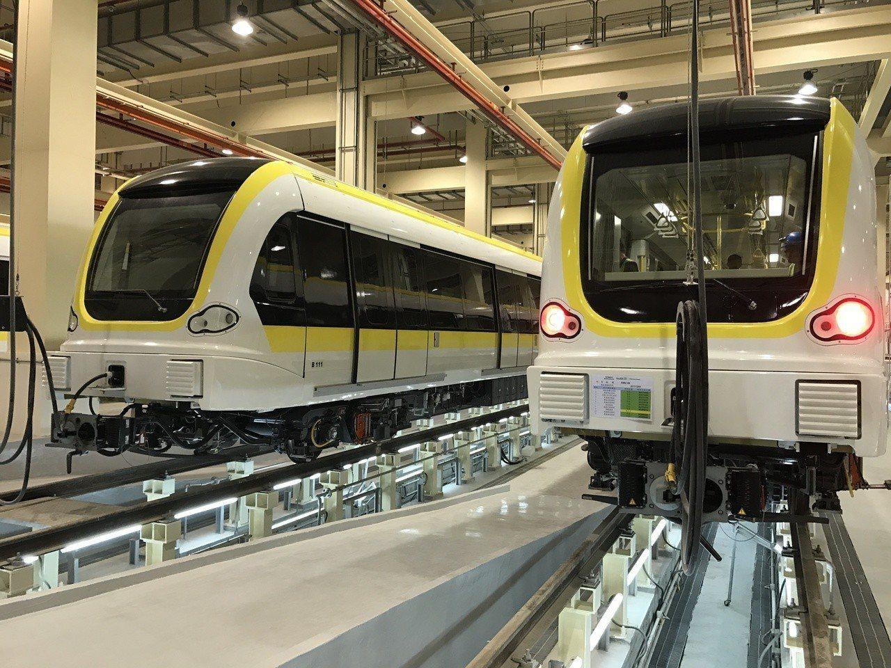 捷運環狀線第一階段工程將於今年年底完工,明年六月營運。記者陳珮琦/攝影