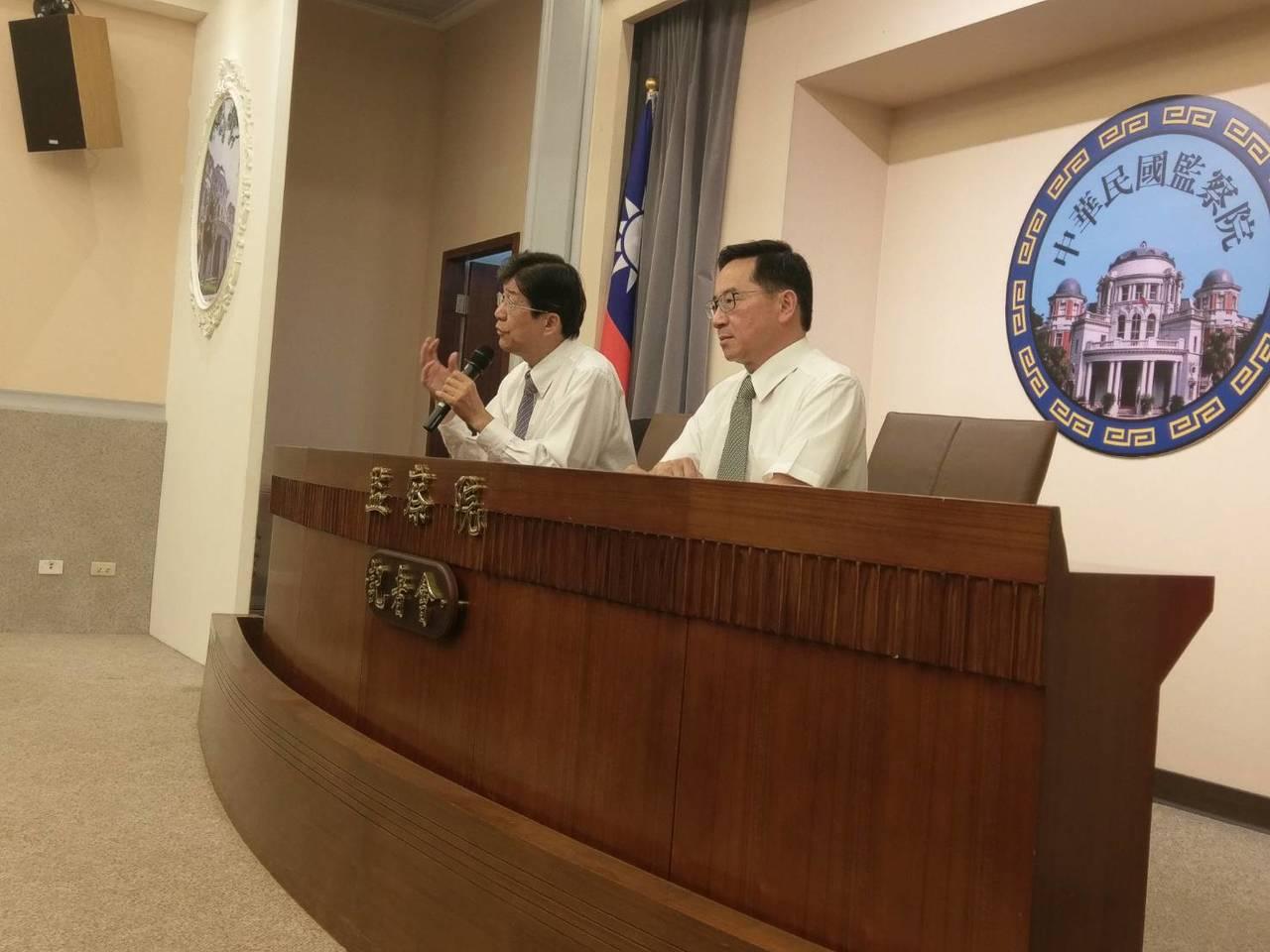 監察委員蔡崇義(左)、張武修(右)。記者徐偉真/攝影