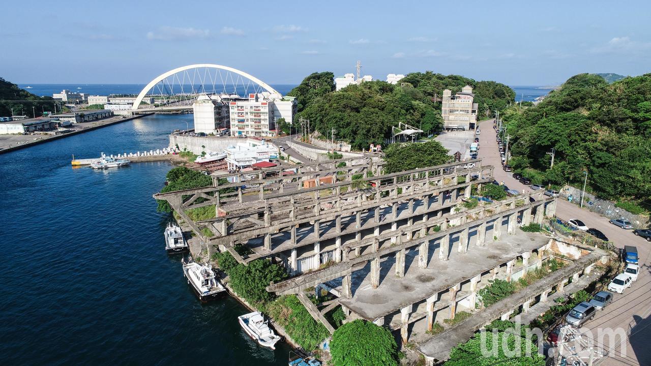 基隆阿根納造船廠遺址。記者許正宏/攝影