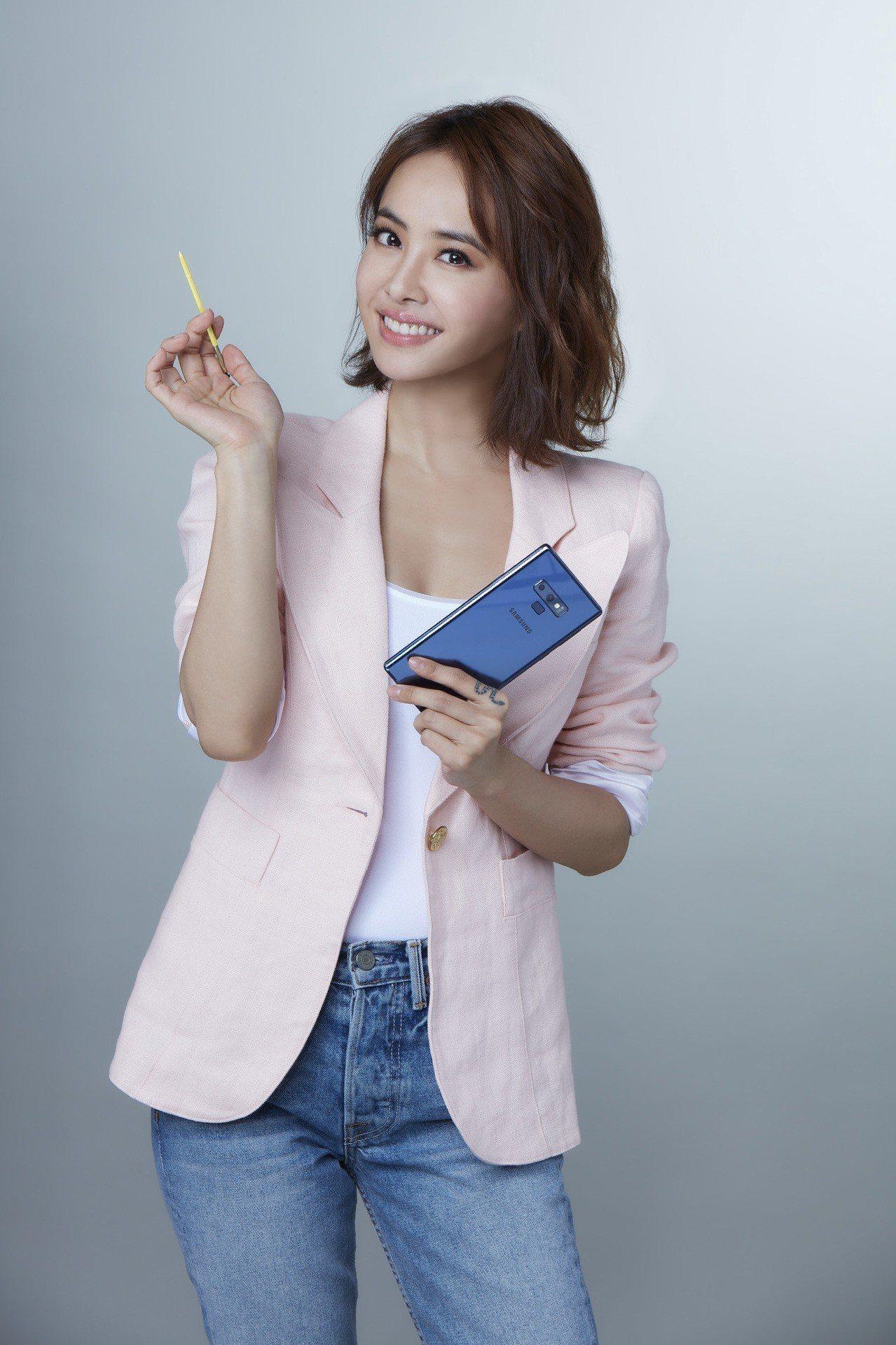 三星宣布蔡依林代言全新旗艦Galaxy Note9。台灣三星提供