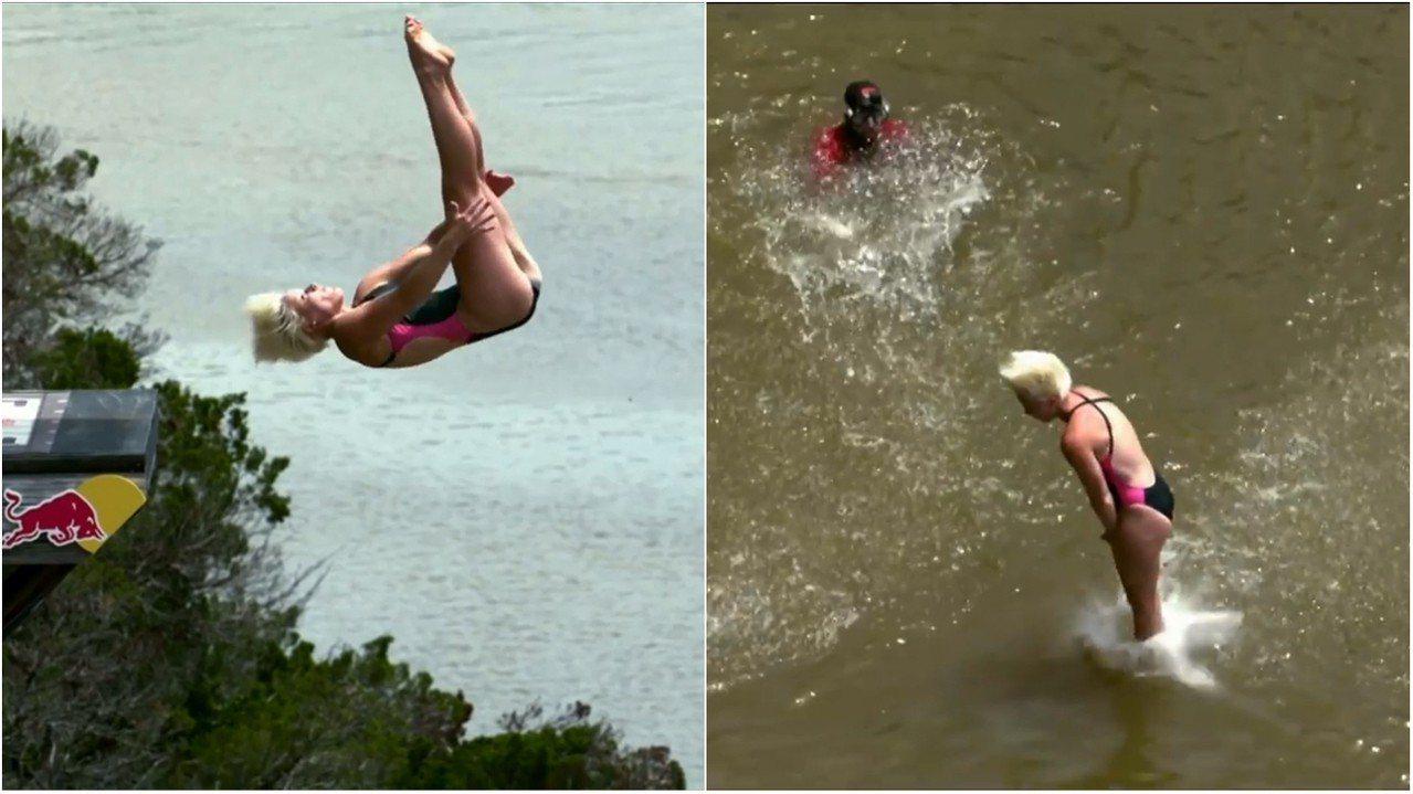 初學者想嘗試懸崖跳水,必須先找尋安全的跳水點,最重要的是以腳部入水,才能避免頭部...