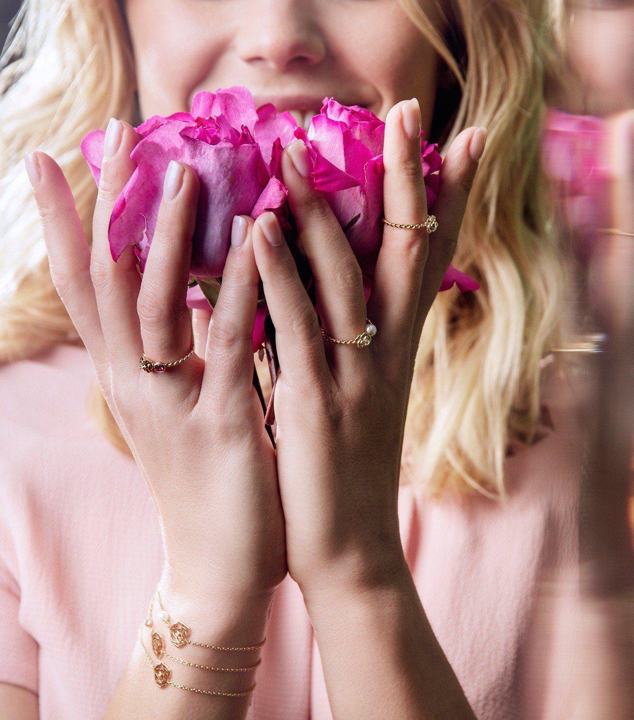 Piaget Rose系列推出新一代的設計,融入高級珠寶的創作元素。圖/伯爵提供