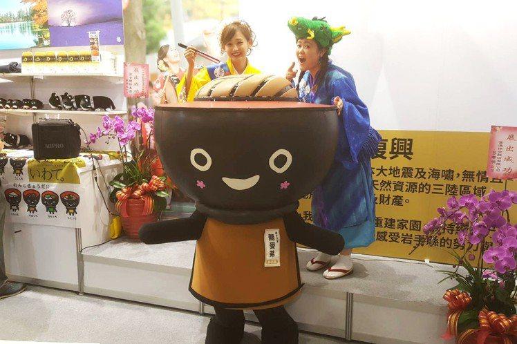 來自岩手的蕎麥君,是日本知名吉祥物之一。記者陳睿中/攝影