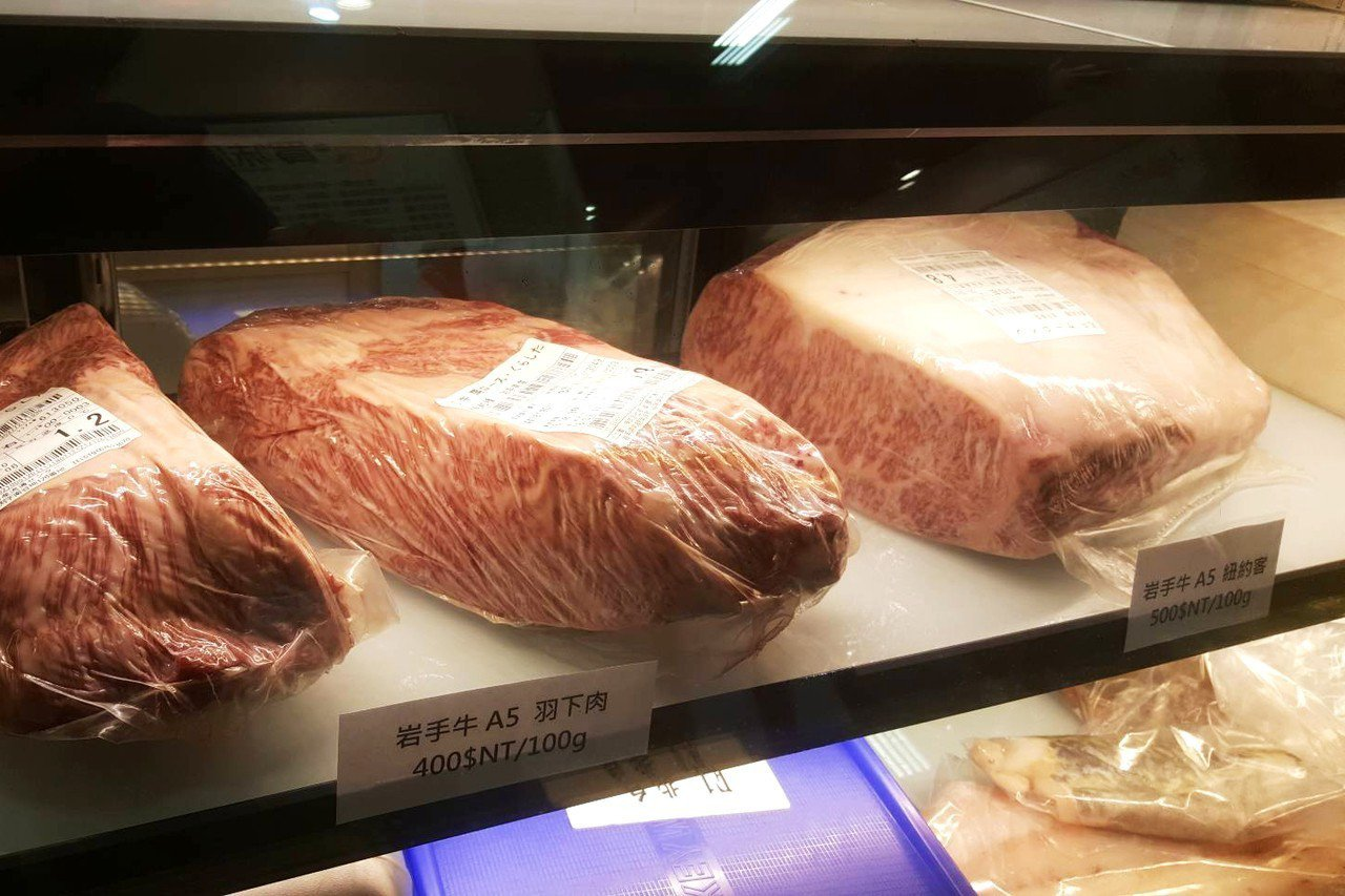 岩手牛是日本極具名氣的名牌牛肉,,要價不菲。記者陳睿中/攝影