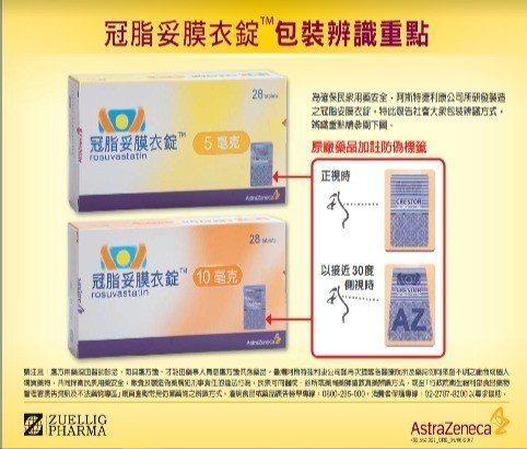 降血脂藥「冠脂妥」去年爆偽藥風波,藥廠業者立即改新包裝以示區別。圖/本報資料照片