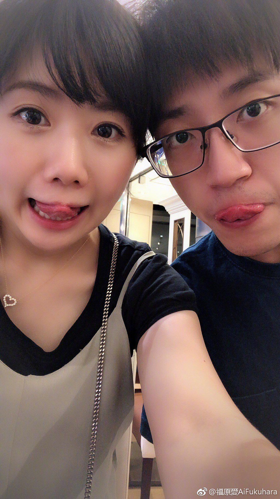 福原愛和江宏傑感情相當甜蜜。圖/摘自微博
