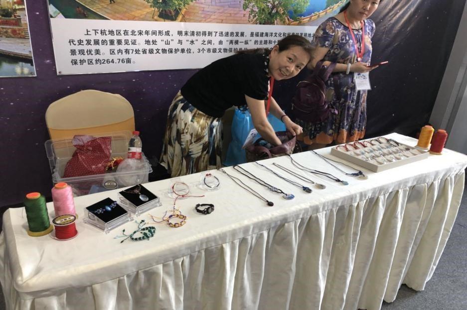 台江區關工委主任科員的手工作品。海峽青年節組委會╱提供