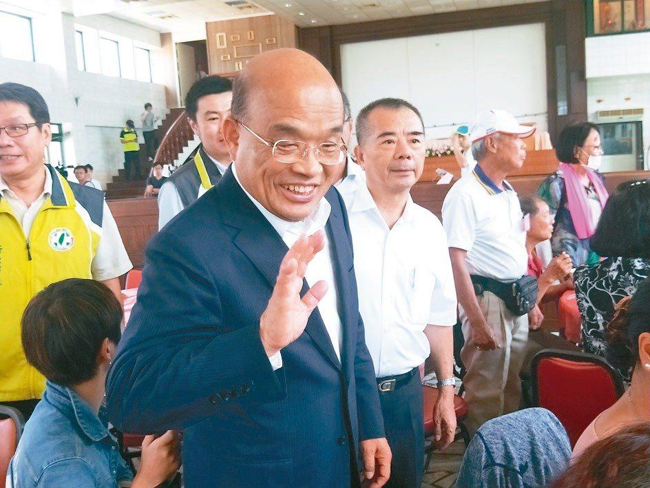 民進黨新北市長參選人蘇貞昌。 聯合報系記者游明煌/攝影