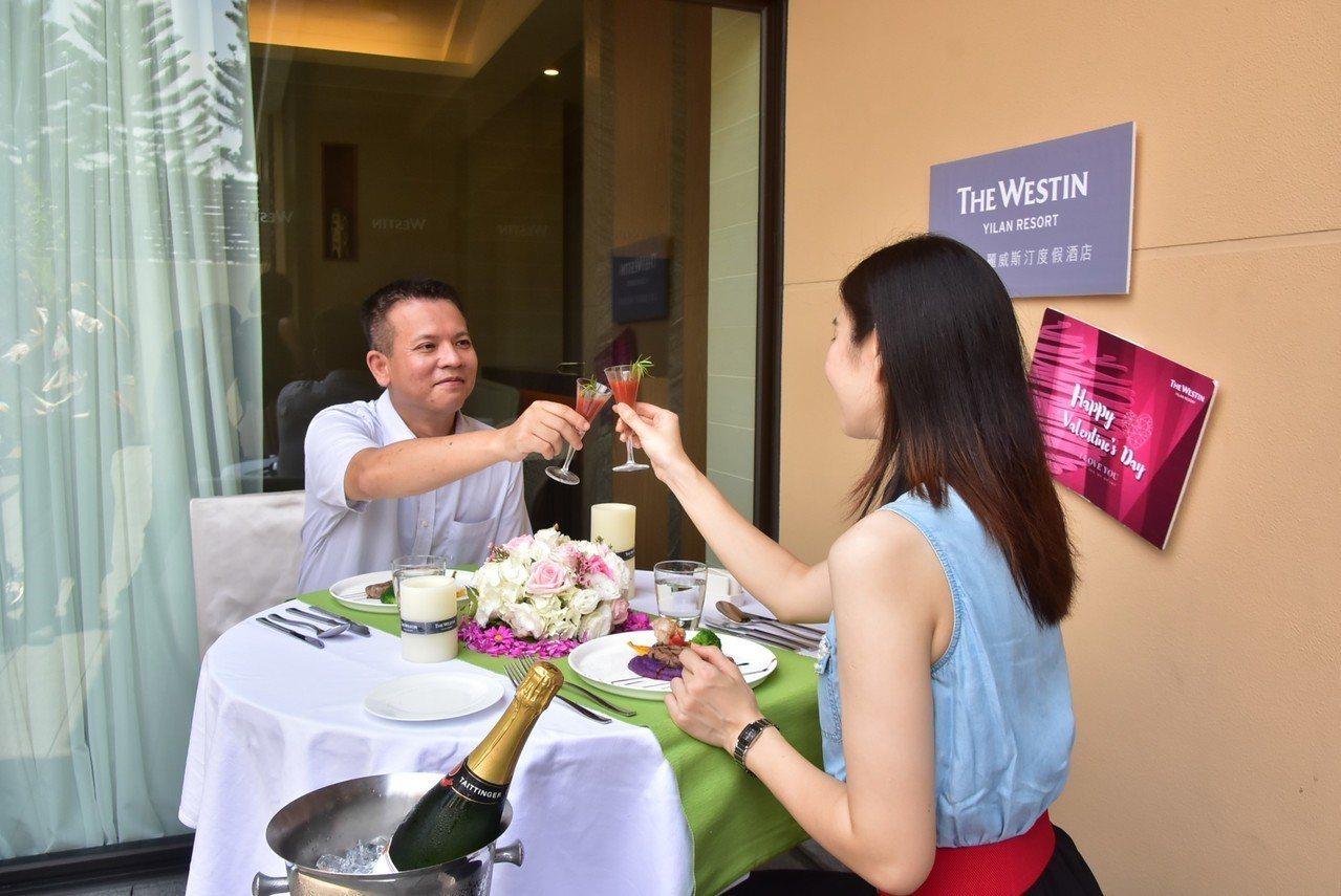宜蘭縣政府與縣內旅宿業合推情人節優惠,可享情人套餐。圖/縣政府提供