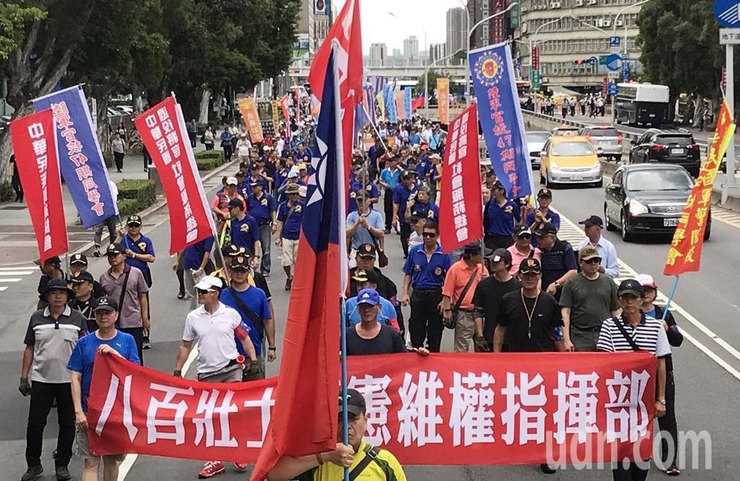 六縣市年改釋憲案大法官不受理,「八百壯士捍衛中華協會」發言人表示,以蔡政府的作風...
