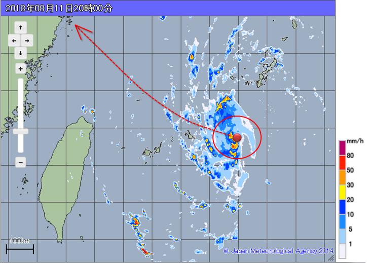 天氣風險公司分析師吳聖宇在臉書「天氣職人—吳聖宇」提醒,摩羯颱風今天白天走得很偏...