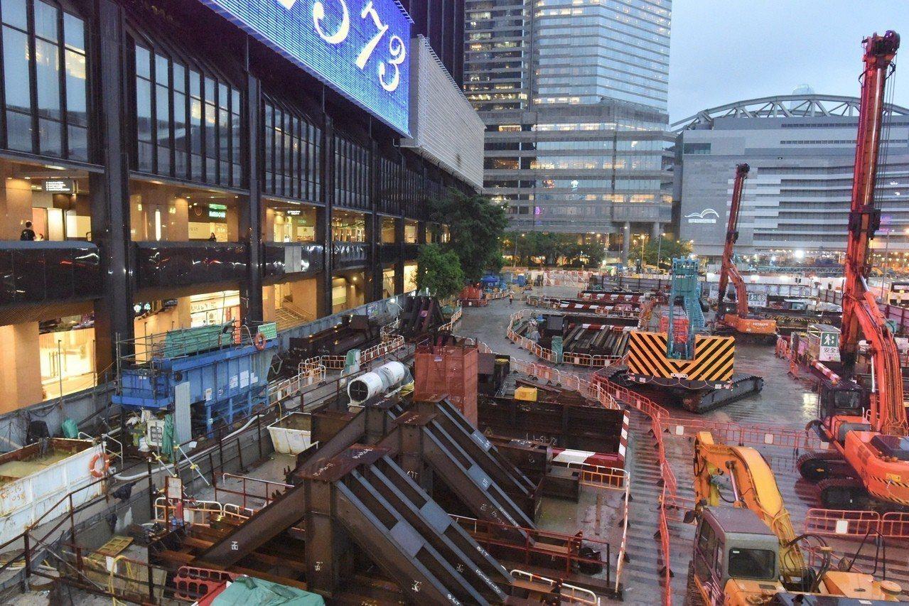 沙中線風暴 會展站也沉降 港鐵停挖掘 香港中國通訊社