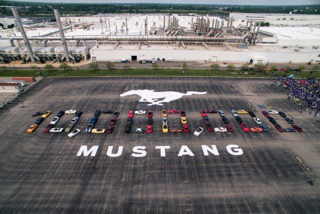 Ford日前歡慶第一千萬輛Mustang誕生。 摘自Ford