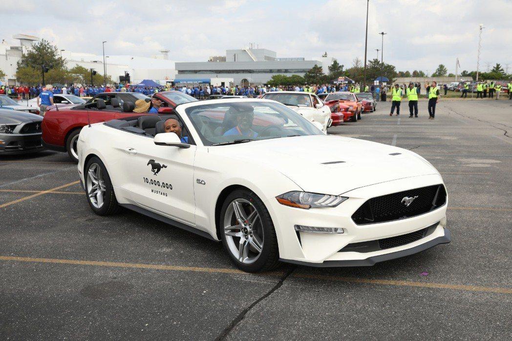 第一千萬輛的Ford Mustang。 摘自Ford