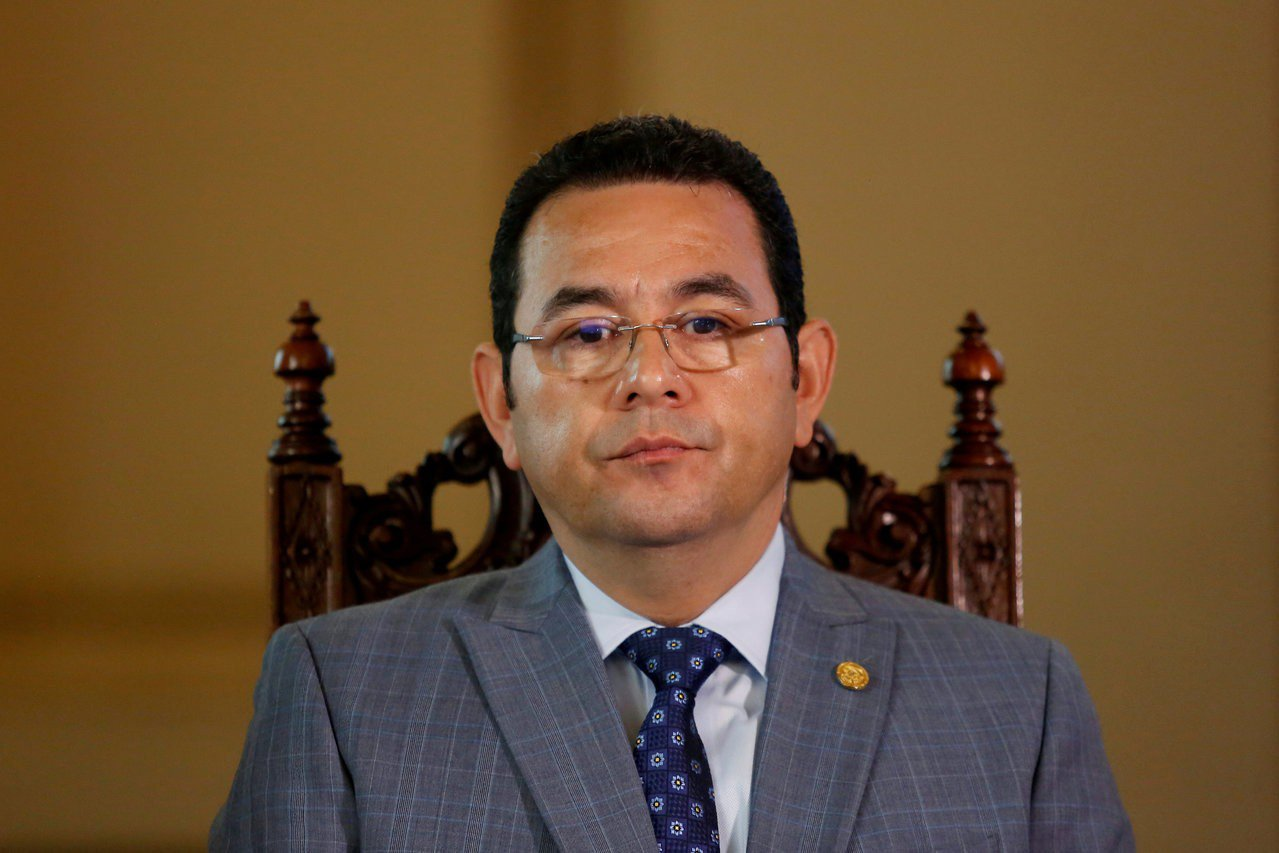 瓜地馬拉總統莫拉雷斯。路透