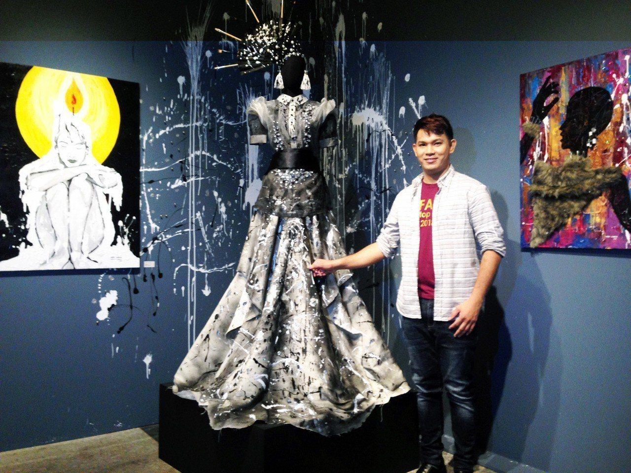 馬力歐打造服飾設計,創作多元。記者郭宣彣/攝影