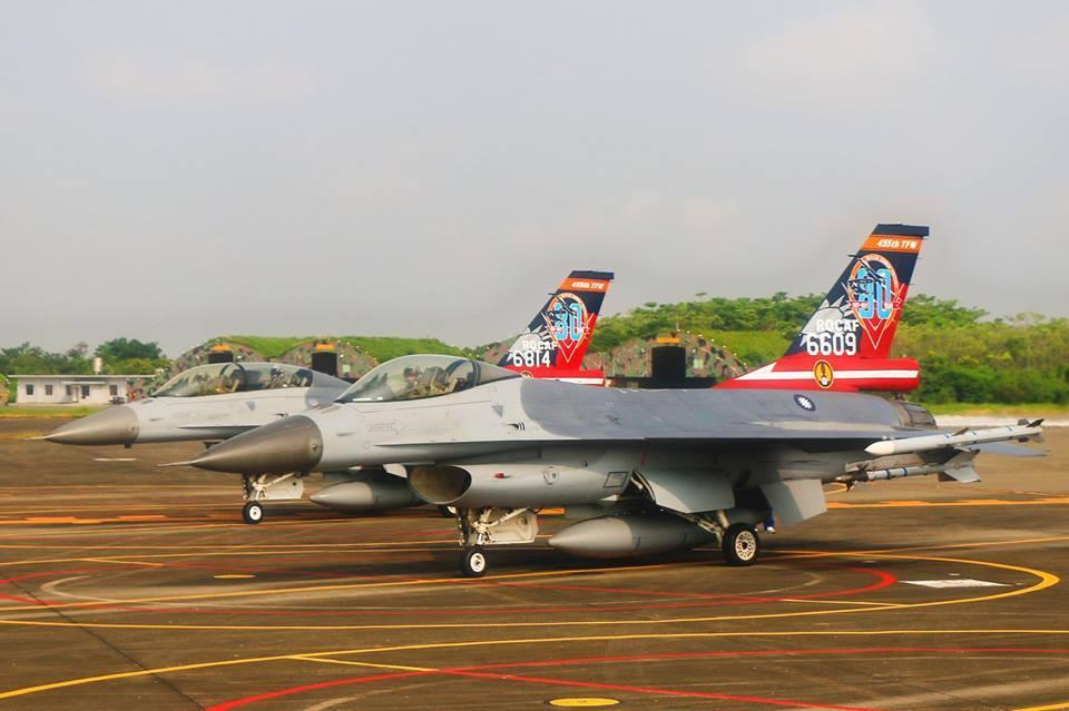 F─16彩繪機。圖/空軍司令部臉書專頁