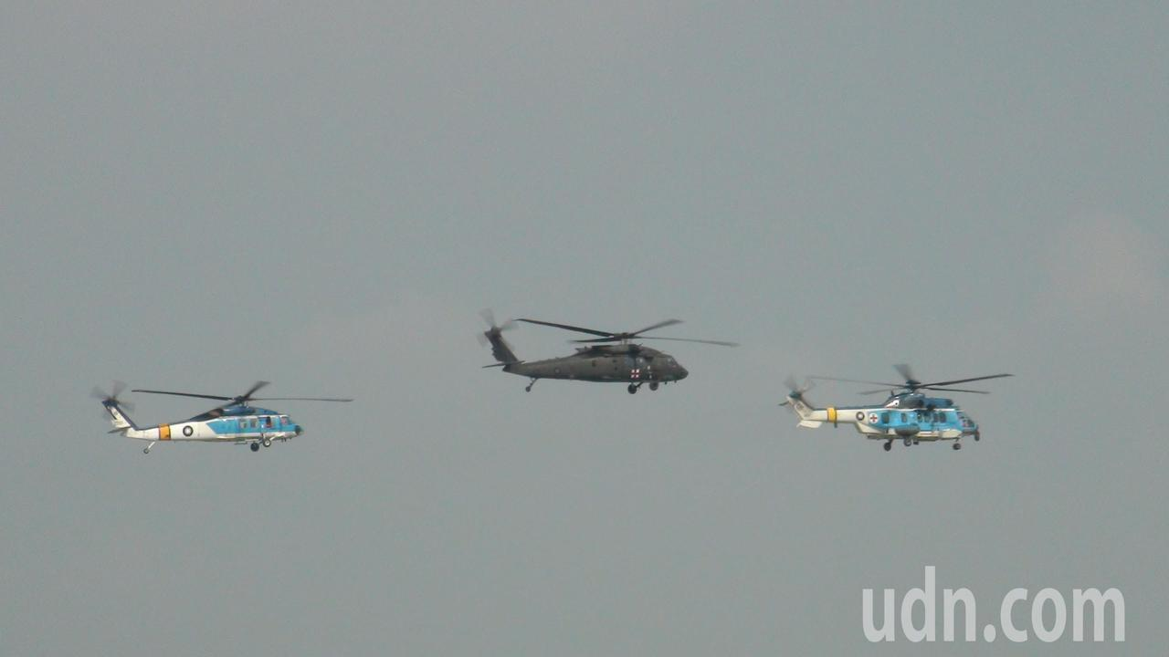 S─70機群中有全新UH-60M黑鷹救護直升機首度亮相。記者謝恩得/攝影