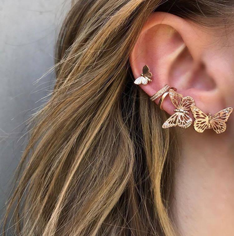 茱莉亞羅勃茲配戴的蝴蝶耳環詢問度極高,來自加州珠寶品牌James Banks D...