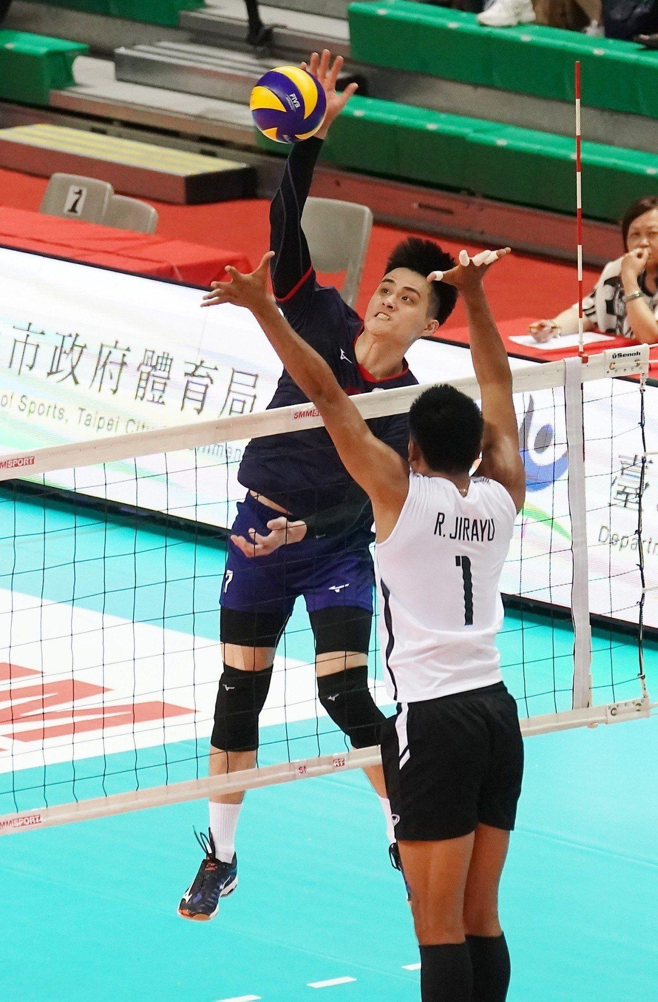 中華隊劉鴻敏攻下全隊最佳23分。圖/中華排球協會提供