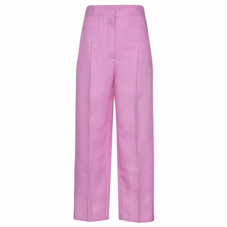 Sandro 2018春夏粉色西裝褲。圖/Sandro提供