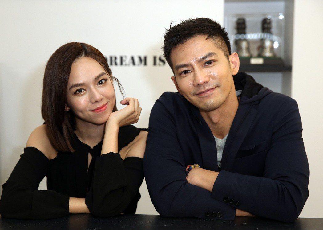 「粽邪」男女主角鄒承恩(右)與夏于喬。記者曾吉松/攝影