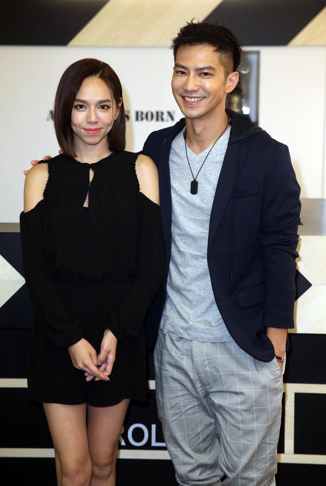 「粽邪」男女主角鄒承恩與夏于喬。記者曾吉松/攝影