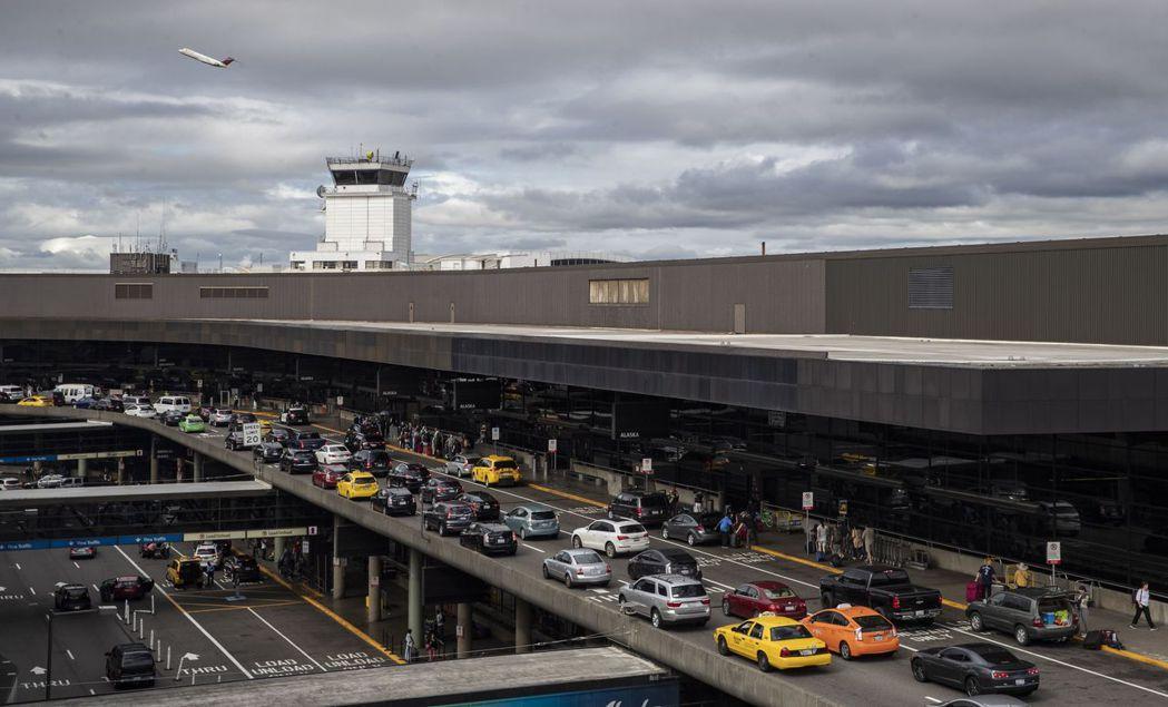發生飛機失竊事件的西雅圖機場。(歐新社)