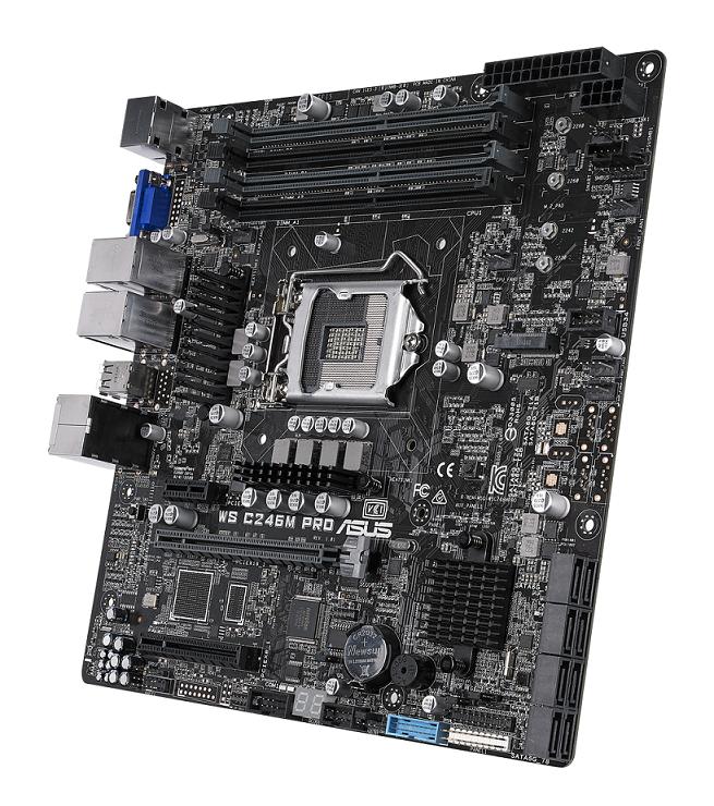 Micro-ATX WS C246M PRO小而效能強。 華碩/提供