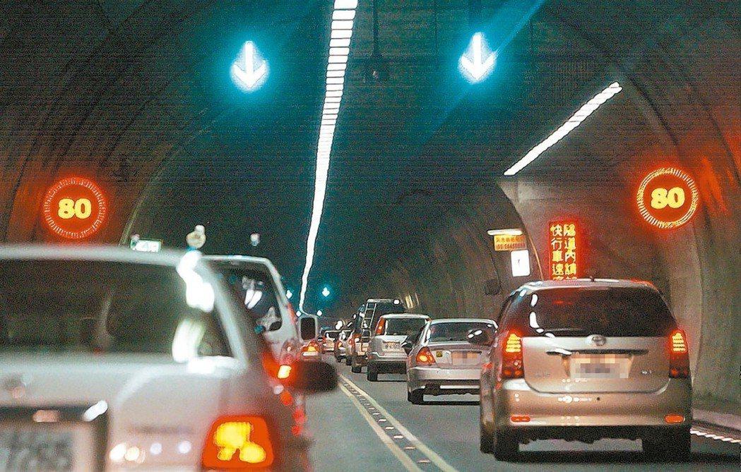 國道5號含雪隧等隧道群,電費每月逾千萬,其中六、七成來自日光燈照明;是否改換LE...