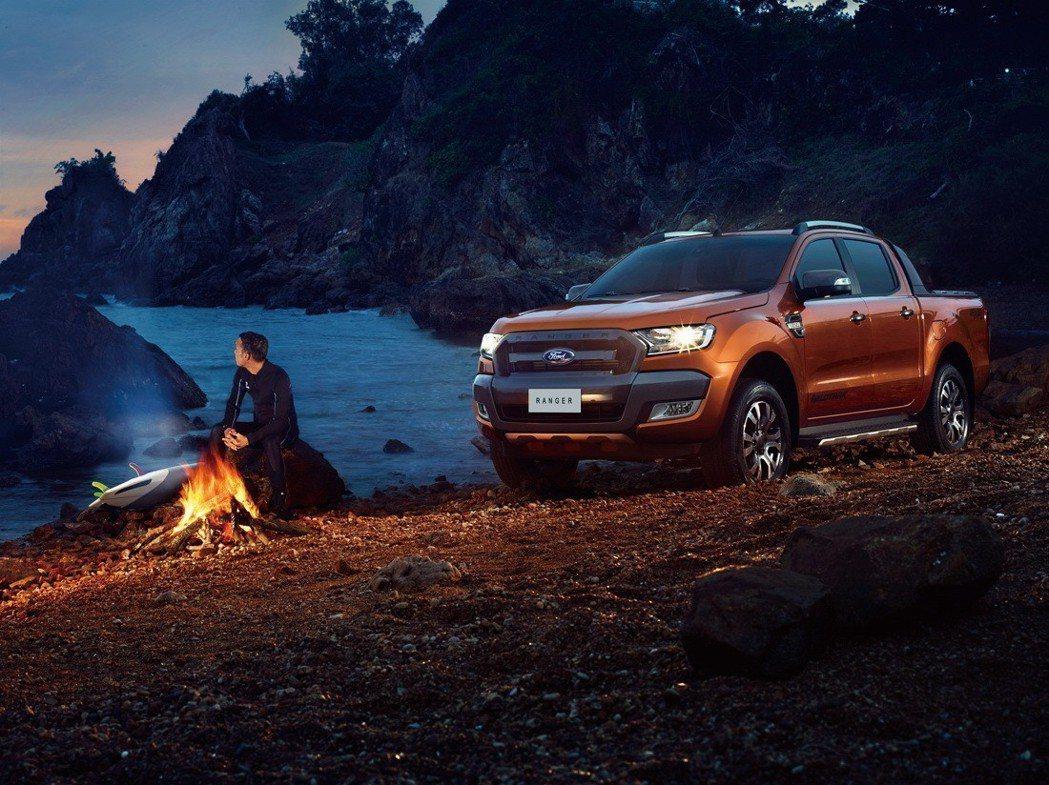 硬漢皮卡Ford Ranger以獨有的美式運動皮卡魅力、實用性及完整五人座配置,...