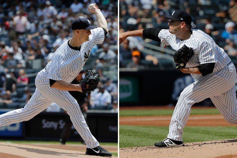 洋基在交易截止前換來兩位先發投手哈普(左)和林恩(右),並沒有付出太大的代價,但...