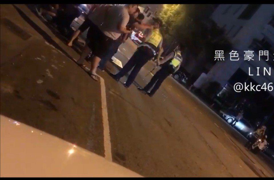 台中市一家酒店今天凌晨發生10人打架事件。圖/取自臉書黑色豪門企業