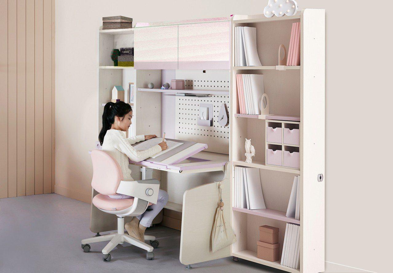 Linki Plus智能書桌,桌板角度可從0度調升到45度。圖/iloom Ta...