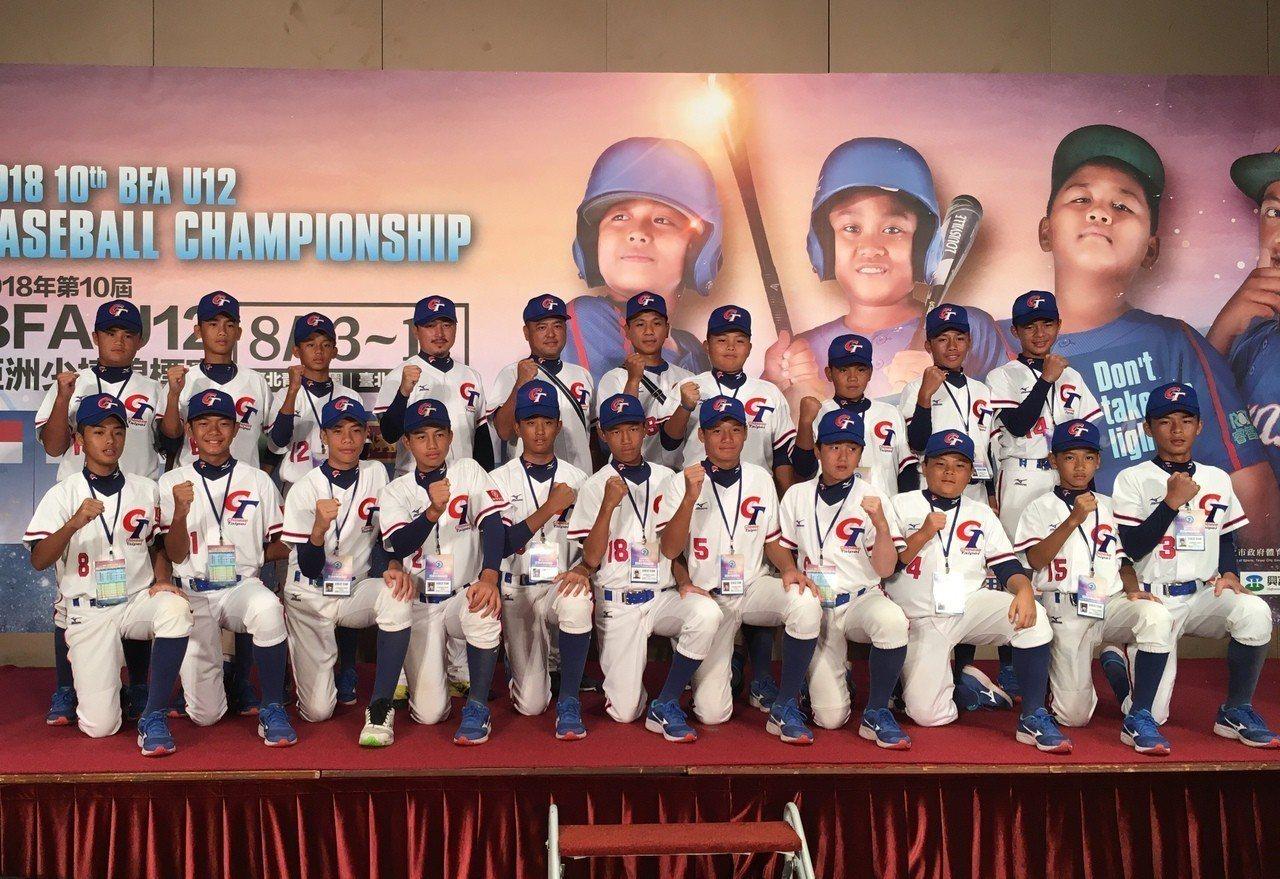 亞洲少棒錦標賽明天開打,中華隊首戰日本隊。記者葉姵妤/攝影