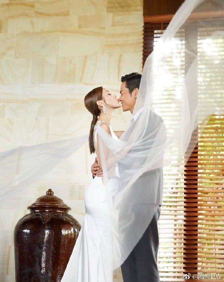 鄭嘉穎與港姐冠軍陳凱琳今天完婚。圖/摘自微博