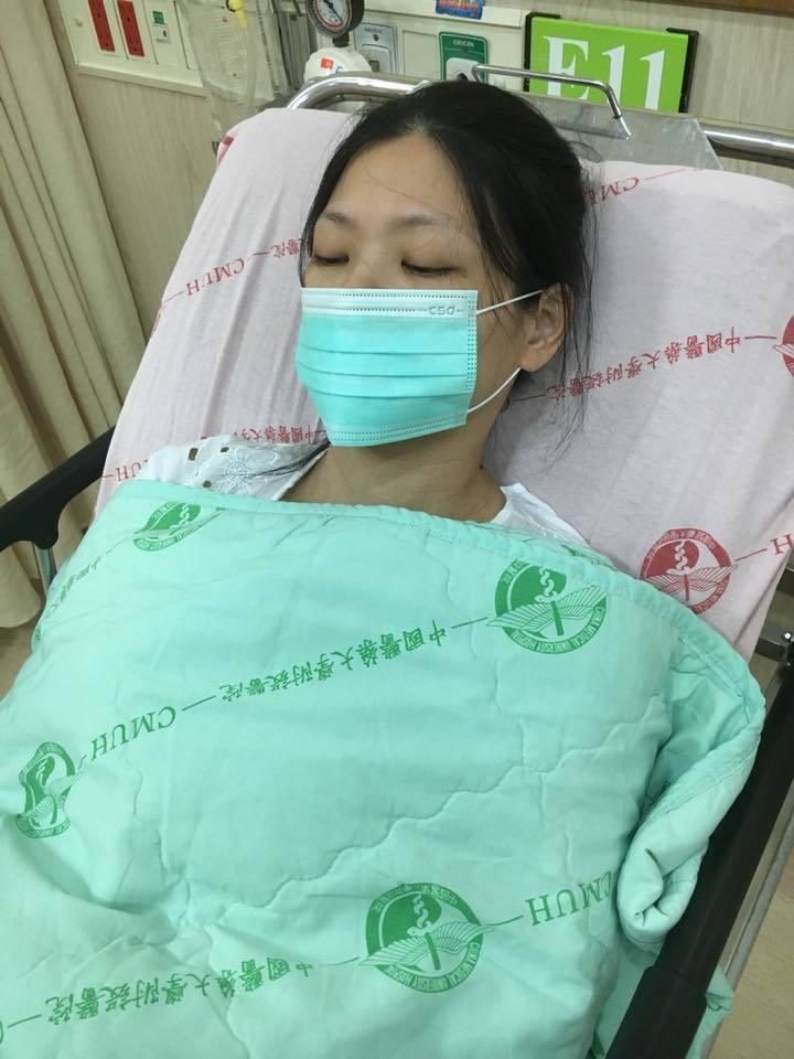 吳鳳老婆因吐不停被送急診。圖/摘自吳鳳臉書