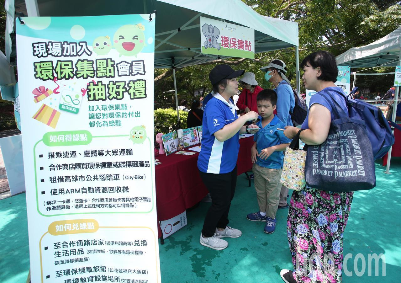 環保局為推廣綠色消費循環的理念,推出環保集點趣味闖關,完成闖關有氣球、刮刮卡及農...