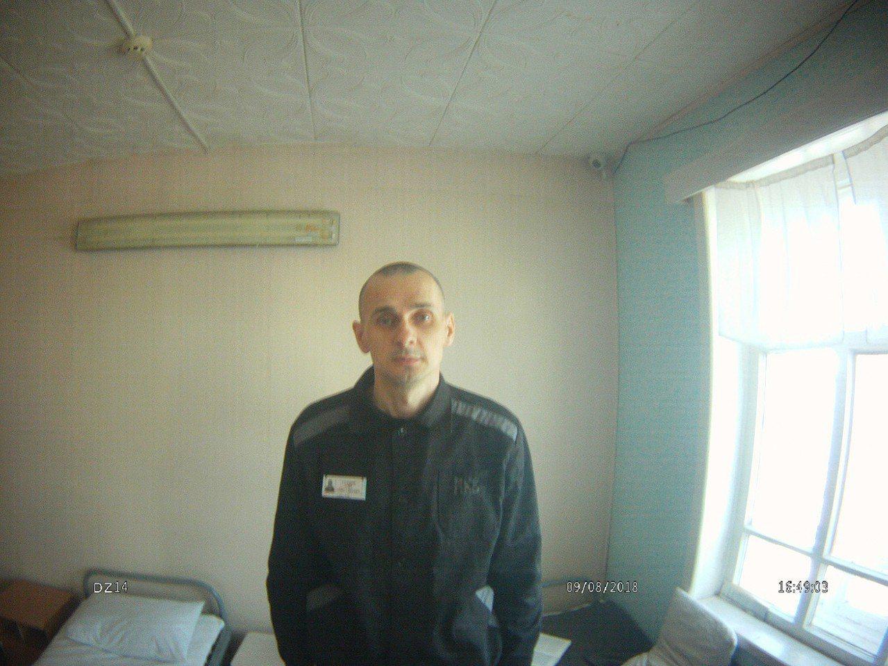 烏克蘭導演珊索夫已在西伯利亞監獄已絕食抗議近3個月。 歐新社