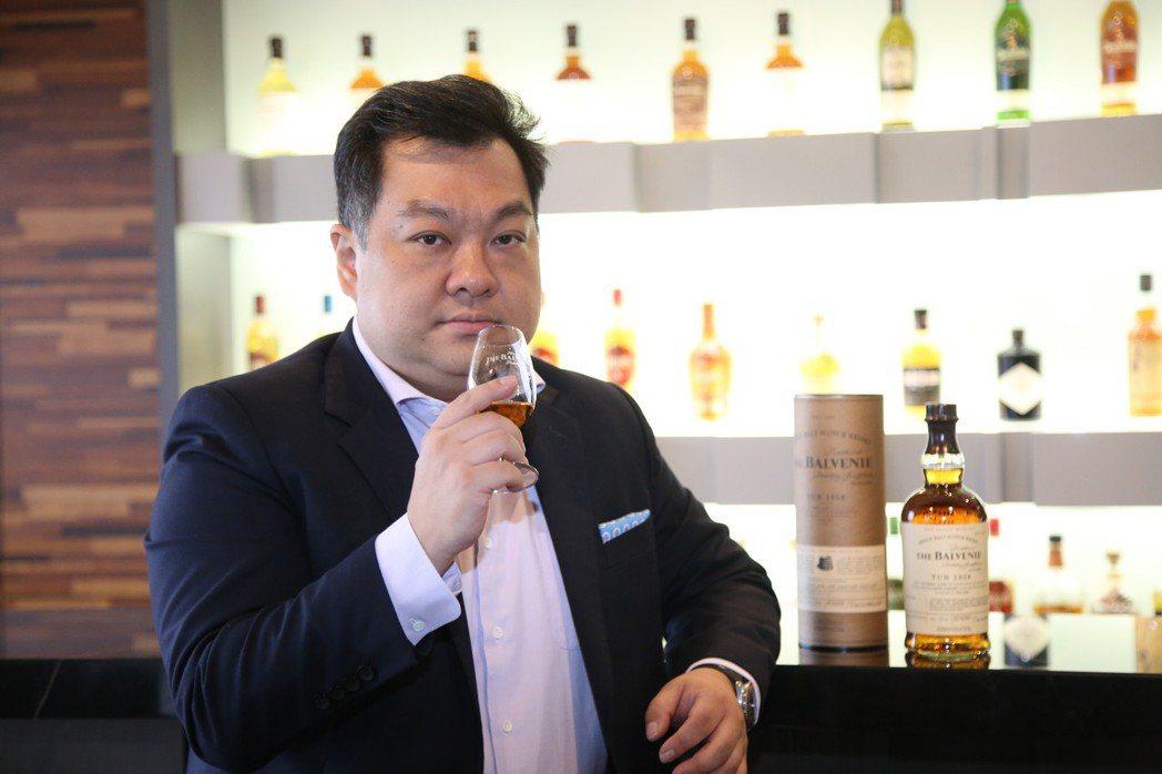 格蘭父子品牌大使沈宇軒指出,珍稀酒款的釋出,相對備受亞洲期待。毛洪霖/攝影