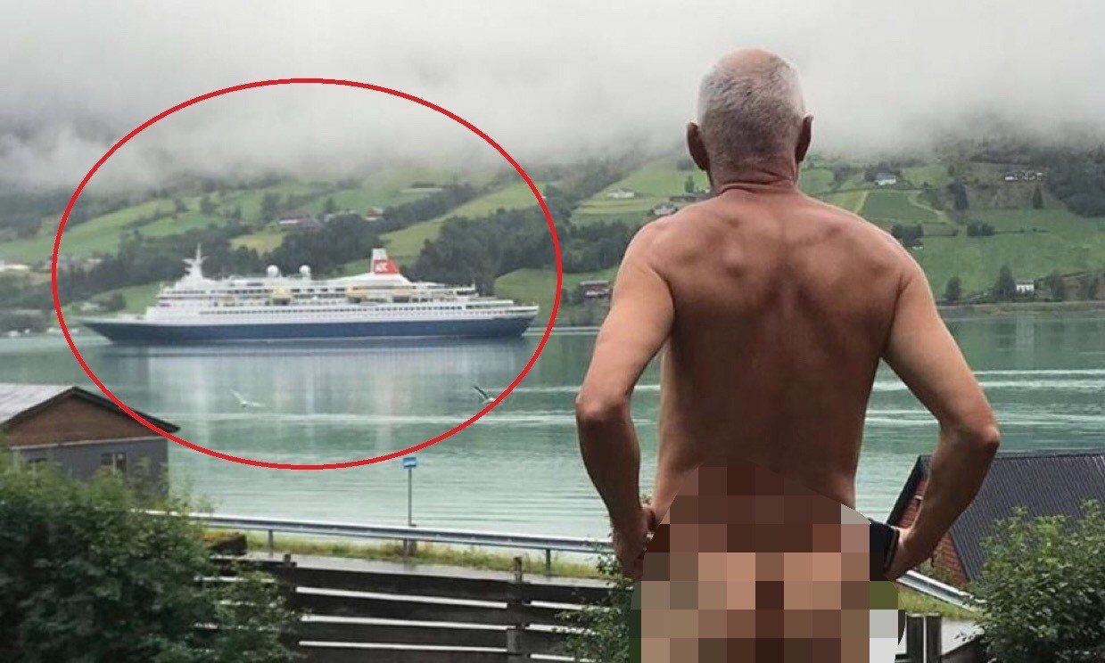 71歲的挪威政治人物史維恩(Svein Opdal)不滿遊客太多,因此全裸以示抗...