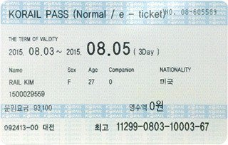 KR Pass (Korea Rail Pass)。 圖/韓國觀光公社